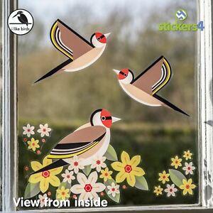 I Like Birds - Goldfinch Static cling bird strike prevention window stickers
