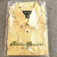NEW Eddie Bauer Mens Tall XL Dress Shirt Wrinkle Free Relaxed Fit Yellow