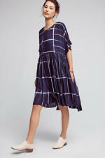 NWT Anthropologie Dyed Swing Dress NORBLACK NORWHIT / XS