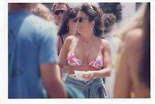 Vtg 4x6 Photo Pretty Woman Bikini Top Bathing Suit Beach 1990's Sep16 c