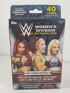 WWE DIVAS Women's Division Wrestling Hanger Box 40 Cards2017 Topps  NEW SEALED