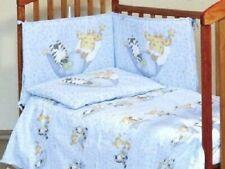 Baby Bettset Baby Bettwäsche und Nestchen mit Himmel und Schleife Blau Tiere