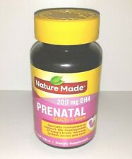1 NEW Nature Made Prenatal Multi + DHA 200 mg Supplement 60 Softgels SEALED 2021