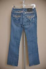 Miss Me Jeans Medium Wash Bling Rhinestone Denim Bootcut Women's size 28 x 30.5