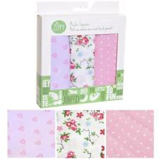 Zippy Baby Muslin Squares 100% Cotton Muslin 70cm x 70cm - Pack of 3 Pastel Pink