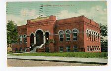 Kennedy Free Library—Spartanburg SC Rare Antique PC Flag Doane Cancel 1910