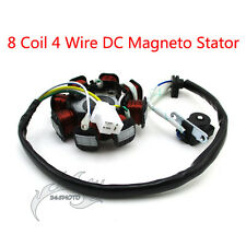 8 Coil Poles 4 Wire DC Magneto Stator For Engine Moped Scooter Chinese GY6 50cc