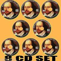 CLASSIC WILLIAM SHAKESPEARE MP3 AUDIOBOOKS 8CD TEMPEST MACBETH HAMLET DRAMATISED