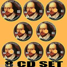 Clásico William Shakespeare MP3 Audiolibros 8cd Tempest Macbeth HAMLET
