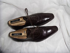 GUY LAURENT MEN'S AXEL ELEGANT BROWN LEATHER LACE UP SHOE SIZE UK 8 EU 42 VGC