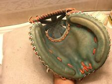 "Spalding 30"" Green Baseball Softball Catchers Mitt Right Handed Throw Japan"
