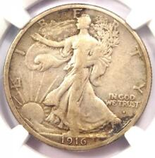 1916-S Walking Liberty Half Dollar 50C - Certified NGC VF20 - Rare Date Coin!
