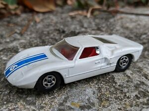 Lesney England Matchbox No 41 Ford GT Thin Transitional Superfast Wheels White