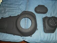 Harley Davidson FLAT WRINKLE BLACK Touring Engine Primary trans cam Covers 07-13