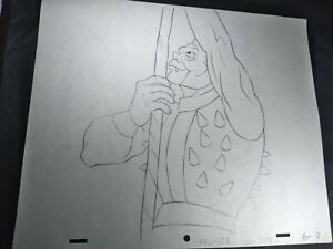 VINTAGE HE-MAN ANIMATION CELS ART FILMATION STUDIOS ART DRAWING 80s SPIKOR