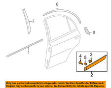 HYUNDAI OEM 06-09 Accent REAR DOOR-Body Side Molding Left 877311E000