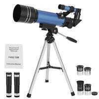 70mm Astronomical Refractor Telescope Refractive 4 Eyepieces Tripod Beginners