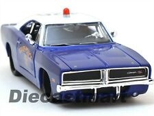 MAISTO DESIGN 1:25 1969 DODGE CHARGER R/T STATE POLICE DIECAST MODEL BLUE 32519