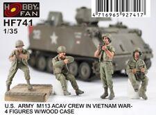 Hobby Fan 1/35 HF-741 US M113 ACAV Crew (Vietnam War) - 4 Figures w/Wood Case