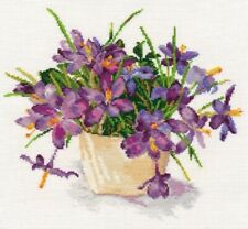 Counted Cross Stitch Kit ALISA 2-26 - Blooming garden. Crocuses