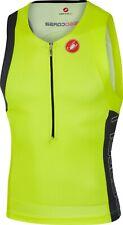 Castelli Men's Triathlon Free Tri Top Yellow Size Large