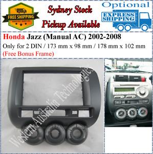 Fascia facia Fits Honda Jazz Manual AC 2002-2008 Double Two 2 DIN Dash Kit