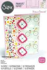 SIZZIX FRAMELITS CUTTING DIE SET - 559641 S BARNARD CARD TRIPLE PLAYFUL FLIP ITS