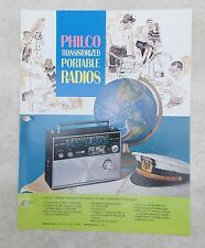 Vintage PHILCO Transistor Portable Radios Brochure / Catalog Section c. 1960s