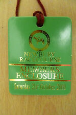 PASS/TICKET- NEWBURY RACECOURSE PASS - Members Enclosure 21 Oct 2000 Saturday