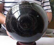 30000g  255mm Rare Large NATURAL Black CRYSTAL QUARTZ CLEAR SPHERE BALL