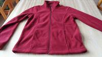 Cabelas Women's Fleece Jacket/Coat, size Medium M - Cabernet -  Polyester  NEW