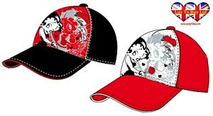 Betty Boop Cap,Baseball Cap,Silver Millar+Embroidery,2 sizes,Official Licensed.