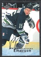 NELSON EMERSON 1995/96 BAP BE A PLAYER AUTOGRAPH #S38 HARTFORD SP