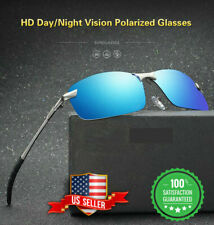 Tac HD+ Polarized Day & Night Vision glasses Men Driving Pilot Aviator sunglass