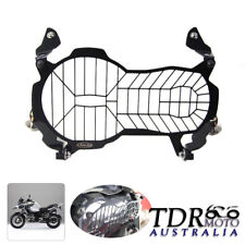 Black Aluminum Headlight Mesh Net Grill Cover for BMW 2013 R1200GS Adventure ABS