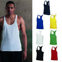 AWDis Just Cool Muscle Vest - Men gym/bodybuilding/weight lifting polyester tank