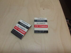Bryant & May's 2x TV Times advertising Match Book 1960s