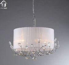 Hot Selling New Modern crystal Chandelier With Fabric Shade chrome Finish