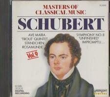 C.D.MUSIC  D934     MASTERS OF CLASSICAL MUSIC VOL.9 : FRANZ SCHUBERT  CD