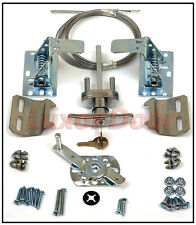 New Garage Door T Lock Kit w/ Spring Latch - Keyed in Handle UNIVERSAL All Doors