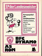 EC I 83/84 BFC Dynamo Berlin - AS Rom, 21.03.1984