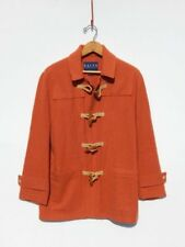 RALPH LAUREN~ Burnt Orange Wool Wood Toggle Fisherman Jacket Coat ~ 8