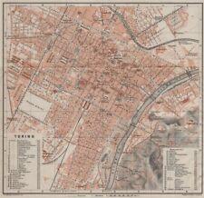 TORINO TORINO Antico CITTA 'CITY Pianoforte piano urbanistico. ITALIA MUNDI 1906