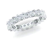 2.70Ct Round Cut Diamond Shared U-Prong Eternity Band Ring 18k White Gold F Vs2