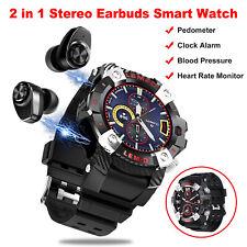 2 in1 Smart Watch Earbuds Wireless Bluetooth 5.0 Headphone Touch Sport Wristband