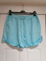 Marks And Spencer Turquoise Blue Casual Shorts, Size 12