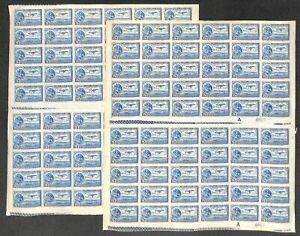 [OPG1162] Mexico 1929/34 Airmail lot of 20x very fine MNH sheet