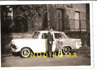1962 OPEL REKORD P2 BERLINA DUE PORTE con GOMME a FASCIA BIANCA FOTO ORIGIN AUTO