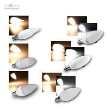 E14 LED Kerzenlampen Leuchtmittel versch. Typen, Kerze Birne Glühbirne 230V Bulb