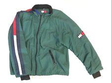 Vintage TOMMY JEANS Spell Out Color Block Flag Patch Lotus Jacket 90s Hilfiger